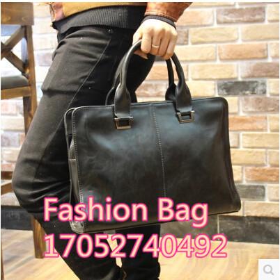 Mens handbag cross-shaped box Korean version man bag shoulder bag Messenger bag man bag business briefcase Deals for only S$76 instead of S$0