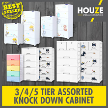 HUSKY Design Knock Down Cabinet W Wheels W Lock ♦ Children Wardrobe ♦ Sturdy ♦ Durable ♦ Space Saver