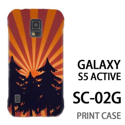 GALAXY S5 Active SC-02G 用『No4 日光林』特殊印刷ケース【 galaxy s5 active SC-02G sc02g SC02G galaxys5 ギャラクシー ギャラクシーs5 アクティブ docomo ケース プリント カバー スマホケース スマホカバー】の画像