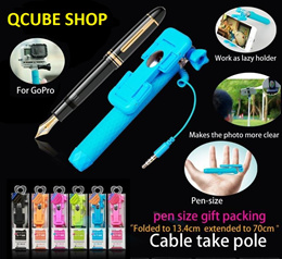 Mini Monopod / Wired selfie stick / Multifunction / Clip Foldable / Extendable / Monopod / Tripod / iphone / Android / SG Seller