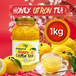 In Singpore★Korean Honey Cirton Tea★1kg Big Size/Korean Food/Korean Drink/Korean Tea/Yuzu/Yujacha