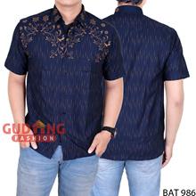 Men's Casual Batik Short Sleeve Shirt