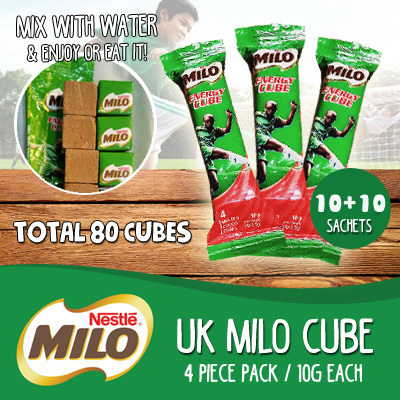 [Joneve] 10+10=20 Sachets/80 cube Milo Energy Cube 4 Piece Per Stick 10G Deals for only S$10.9 instead of S$0