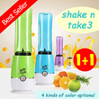 ★Get 2 Tabung ★Shake n Take 3 ★Juicer★Personal Smoothie Blender★ High quality and Fashion design.Vegetable meat dry grinding(4 kinds of color )