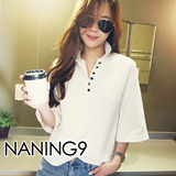 ★ Korea fashion industry NO.1 Naning9 ★limited special price ♥ incredible bargain ♥ 2015 S / S New! High Quality!/Trendy T-Shirts/FEUNS*T