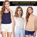 【LOWEST PRICE IN BIG PROMOTION】BASIC CHIFFON TOP/ CHIFFON VEST/SHIRT /BLOUSE / BASIC TOP / OFFICE SHIRT/Chiffon Dress/Mini Skirt[S-XXXL]/8 STYLE