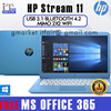 Use your $50 coupon! Model 2017 HP Stream 11 4GB Dualband WiFi MiMo 2x2 Win 10 FREE: Office 365p 1 year on site warranty