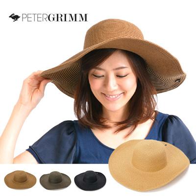 ピーターグリム PETER GRIMM 帽子 つば広ハット 麦わら帽子 女優帽 Erin PGR1043の画像