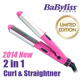 [Gift]★Group buy★Limited Edition MCS69PK NEW Babyliss 2 in 1 Curl pocket-sized straightener/hair curler