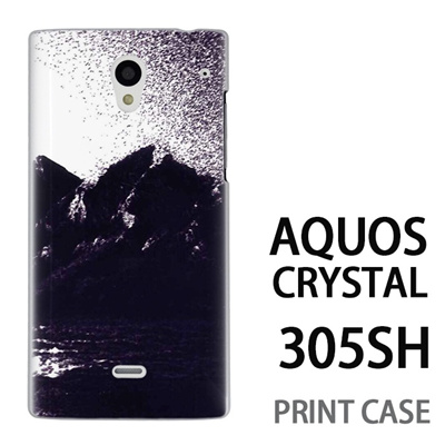 AQUOS CRYSTAL 305SH 用『No4 モノクロマウンテン』特殊印刷ケース【 aquos crystal 305sh アクオス クリスタル アクオスクリスタル softbank ケース プリント カバー スマホケース スマホカバー 】の画像