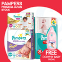 [PnG] [FREE DOWNY BABY GENTLE 900ML] Pampers Premium Care Japan Stock | Baby Dry Pants From JP