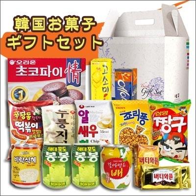【ギフトセット】お菓子ギフトセット|お菓子9種・飲料3種■ラッピング無料[韓国お菓子][韓国飲み物][韓国飲料]の画像