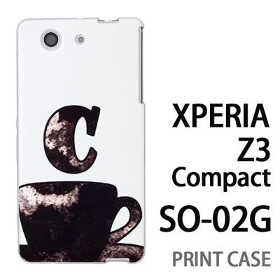 XPERIA Z3 Compact SO-02G 用『No1 C コーヒーカップ』特殊印刷ケース【 xperia z3 compact so-02g so02g SO02G xperiaz3 エクスペリア エクスペリアz3 コンパクト docomo ケース プリント カバー スマホケース スマホカバー】の画像