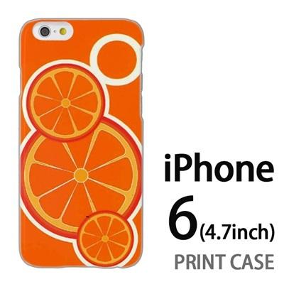 iPhone6 (4.7インチ) 用『No1 O オレンジ』特殊印刷ケース【 iphone6 iphone アイフォン アイフォン6 au docomo softbank Apple ケース プリント カバー スマホケース スマホカバー 】の画像