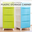 4-5 Level Plastic Storage Cabinet in Red Blue Green White