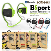 New Design 100% Original Jabees BSport™ Waterproof Bluetooth Headphone Earphone Earpiece Wireless Stereo for Outdoor Sports iphone/Samsung Andriod/Xiaomi