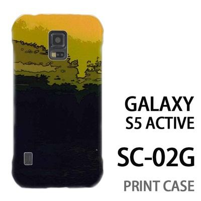 GALAXY S5 Active SC-02G 用『No4 風景画 緑』特殊印刷ケース【 galaxy s5 active SC-02G sc02g SC02G galaxys5 ギャラクシー ギャラクシーs5 アクティブ docomo ケース プリント カバー スマホケース スマホカバー】の画像