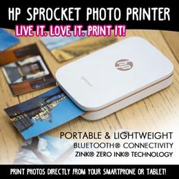 HP Sprocket Photo Printer  White/Black colour
