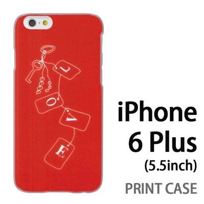 iPhone6 Plus (5.5インチ) 用『0828 Loveタグ ピンク』特殊印刷ケース【 iphone6 plus iphone アイフォン アイフォン6 プラス au docomo softbank Apple ケース プリント カバー スマホケース スマホカバー 】の画像