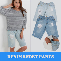 New Arrival/Women Casual/Jeans/Shorts Pants/Denim/Plus Size/S~XL/Elastic/Washing