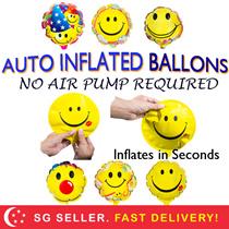 Auto Inflate Party Balloons Emoji Kids Children Birthday Cake Free Shipping