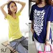SS2 [Korea Best Product] One Piece Long T-shirt / loose / Short Sleeve Tee / stripe / ladies top / dressabelle / hoodie