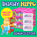[RB] Thirsty Hippo VALUE PACK! Moisture Absorber and Dehumidifer for Wardrobes Drawers | Calcium chloride prevents mould mildew musty odours | Lasts up to 4 weeks