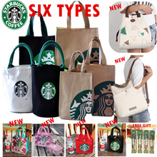 6 types of exclusive JAPAN ONLY STARBUCK S recycle canvas lunch carrier tote bag ★lunch bag