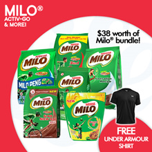 [NESTLE] Milo® Mix N Match to $38 and Get a FREE UNDER ARMOUR SHIRT!