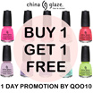 CHINA GLAZE 1 FOR 1 ♡ LITE BRITES COLLECTION ♡ BUY 1 FREE 1 ♡ FULL COLLECTION COLOR AVAILABLE! QOO10 SUPPORTED EVENT PRICE 1 DAY ONLY