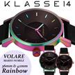 【送料無料】KLASSE14 クラス14 クラッセ 腕時計 MARIO NOBILE VOLARE RAINBOW レザーベルト 36mm 42mm うでどけい レインボー ブラック KLASSE14