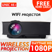 🌟WIFI PROJECTOR UC46+🌟Android RD805 WIFI  the cheapest UC46+ in Singapore 1080P portable project