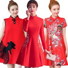 2019  CNY Women girl  Cheongsam Dresses Plus Size Wedding Linen Oriental Traditional QiPao