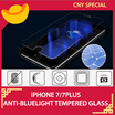 ★Apple iPHONE 7/7Plus Anti-Blue Light Premium 9H Hardness Tempered Glass Screen Protector★High Quality★