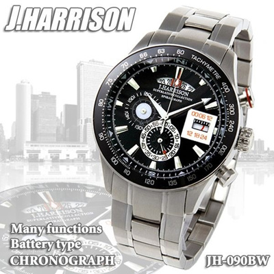 J.HARRISON ジョンハリソン  クォーツ クロノグラフ JH-090BWの画像