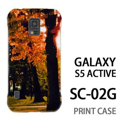 GALAXY S5 Active SC-02G 用『No4 木漏れ日』特殊印刷ケース【 galaxy s5 active SC-02G sc02g SC02G galaxys5 ギャラクシー ギャラクシーs5 アクティブ docomo ケース プリント カバー スマホケース スマホカバー】の画像