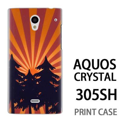 AQUOS CRYSTAL 305SH 用『No4 日光林』特殊印刷ケース【 aquos crystal 305sh アクオス クリスタル アクオスクリスタル softbank ケース プリント カバー スマホケース スマホカバー 】の画像