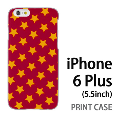 iPhone6 Plus (5.5インチ) 用『0825 星赤黄 ドット』特殊印刷ケース【 iphone6 plus iphone アイフォン アイフォン6 プラス au docomo softbank Apple ケース プリント カバー スマホケース スマホカバー 】の画像