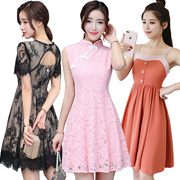 19/5 Korean dresses/Occupation/Casual/chiffon/lace/suit/Office/Leisure/Bridesmaid/Short/strapless