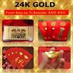 Chinese New year Gold Yuan Bao Red Packets / Gold Ang Bao / Hong bao / Designer Trend / Design Angba