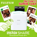 [Super 1DAY DEAL!!!][Fujifilm]Instax Share Smartphone Printer SP-1 / Instax Mini Film / Polaroid Camera / Portable Wireless Printer / LG Printer / Pogo Printer
