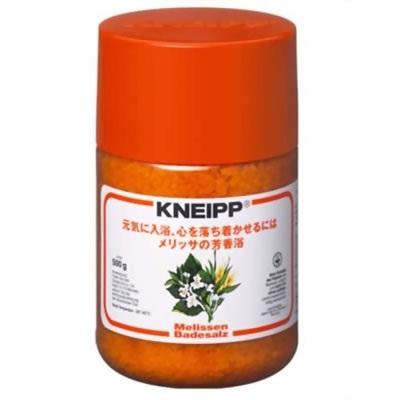 クナイプ KNEIPP バスソルト メリッサ 500gクナイプ/KNEIPP/バスソルト/芳香浴/入浴剤/岩塩/精油/ハーブ/メリッサ/500gの画像