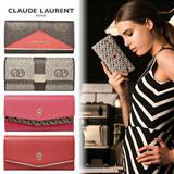 [CLAUDE LAURENT]FRANCE BRAND CLAUDE LAURENT 2015 S/S NEW ARRIVAL WOMEN WALLETS/Leather Wallet/COWHIDE WALLET/GIFT
