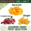 [GET MAMEMON DISCOUNT!][1kg + 1kg BUNDLE DEAL] Special OFFER! Choose from Cranberries/Apricot/Ginger