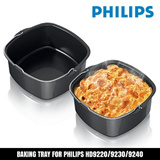 Airfryer Baking Tray Compatible with HD9240 HD9220 HD9925 HD9230 Mayer MMAF8 MMAF2 Naturai Philips Air Fryer Accessories