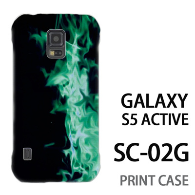 GALAXY S5 Active SC-02G 用『No4 緑煙』特殊印刷ケース【 galaxy s5 active SC-02G sc02g SC02G galaxys5 ギャラクシー ギャラクシーs5 アクティブ docomo ケース プリント カバー スマホケース スマホカバー】の画像