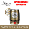 [WARSTEINER] 5L BEER MINI KEG [THE LIQUOR SHOP][FESTIVE][SPECIAL]