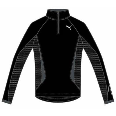 プーマ(PUMA) ハーフジップ LS TEE 903925 01 ブラック 【メンズ トレーニングウェア ランニング 長袖 Tシャツ】の画像