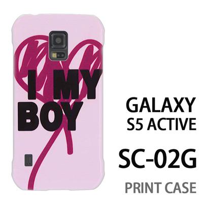 GALAXY S5 Active SC-02G 用『0116 アイマイボーイ ピンク』特殊印刷ケース【 galaxy s5 active SC-02G sc02g SC02G galaxys5 ギャラクシー ギャラクシーs5 アクティブ docomo ケース プリント カバー スマホケース スマホカバー】の画像