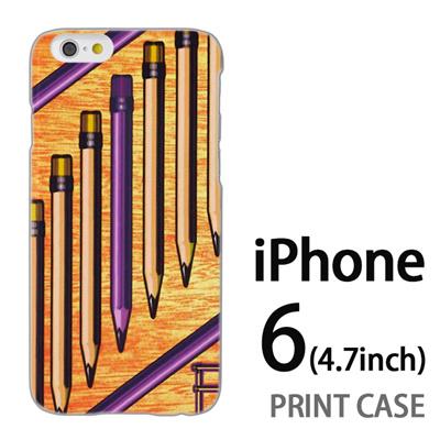 iPhone6 (4.7インチ) 用『No1 P ペンシル』特殊印刷ケース【 iphone6 iphone アイフォン アイフォン6 au docomo softbank Apple ケース プリント カバー スマホケース スマホカバー 】の画像